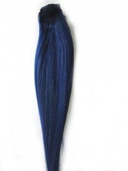 Pasmo Clip-in, 40 cm, kolor Blue, 8 g