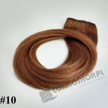 Pasmo Clip-in, długość 40 cm kolor #10 -BARDZO JASNY  BRĄZ KASZTANOWY