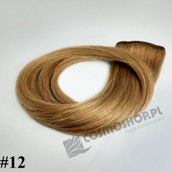 Zestaw Clip-in, długość 40 cm kolor #12 - NATURALNY CIEMNY BLOND, 130g