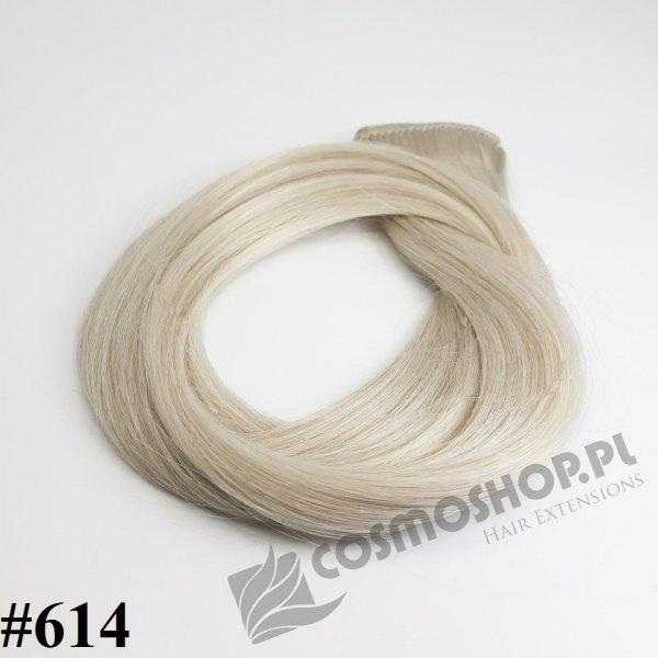 Zestaw Clip-in, długość 50 cm kolor #614- BARDZO JASNY POPIELATY BLOND