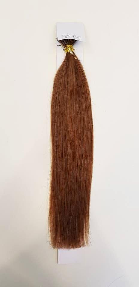 Zestaw włosów pod mikroringi, długość 55 cm kolor #06 - JASNY BRĄZ LEKKO KASZTANOWY