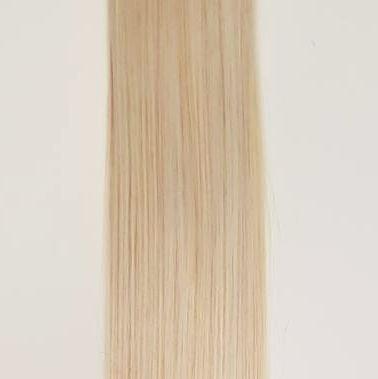 Zestaw włosów pod mikroringi, długość 40 cm kolor #60 - BARDZO JASNY BLOND