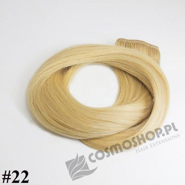 KUCYK CLIP IN- ŚREDNI BLOND #22, 30 cm
