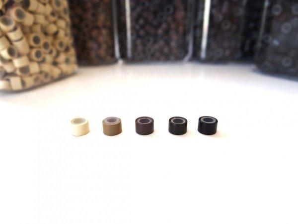 Mikroringi czarny rozmiar L z silikonem