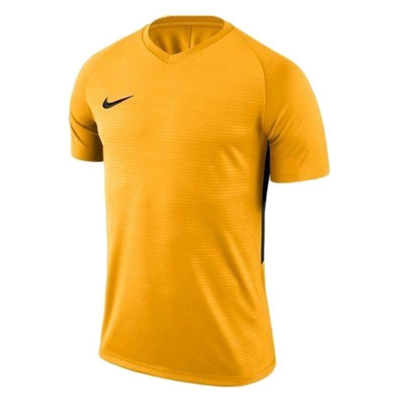 Koszulka Nike Y Tiempo Premier JSY SS 894111 739 żółty S (128-137cm)