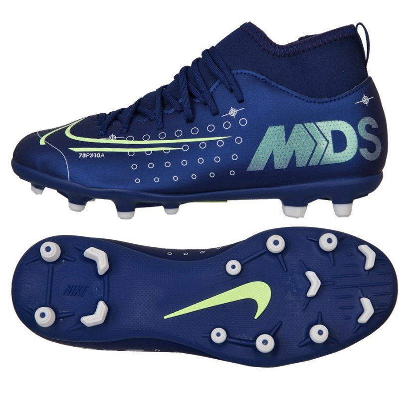 Buty Nike JR Mercurial Superfly 7 Club MDS FG/MG BQ5418 401 niebieski 37 1/2