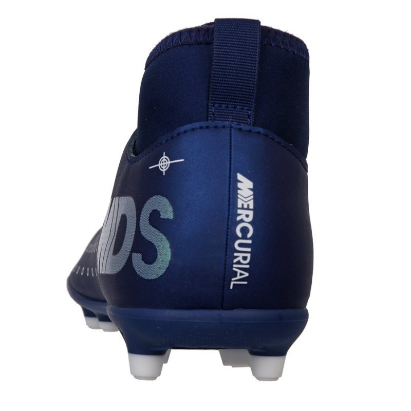 Buty Nike JR Mercurial Superfly 7 Club MDS FG/MG BQ5418 401 niebieski 33