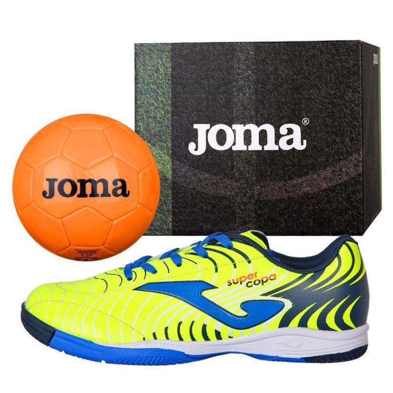 Buty Joma Super Copa JR 2011 IN SCJS.2011.IN + Piłka Gratis żółty 33