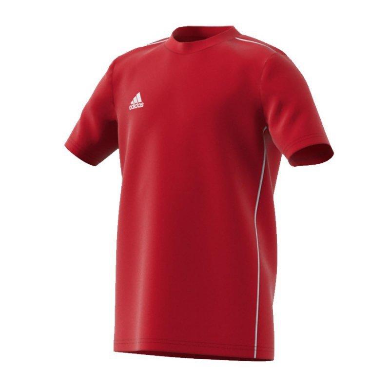 Koszulka adidas Core 18 Tee Y FS3251 czerwony 176 cm