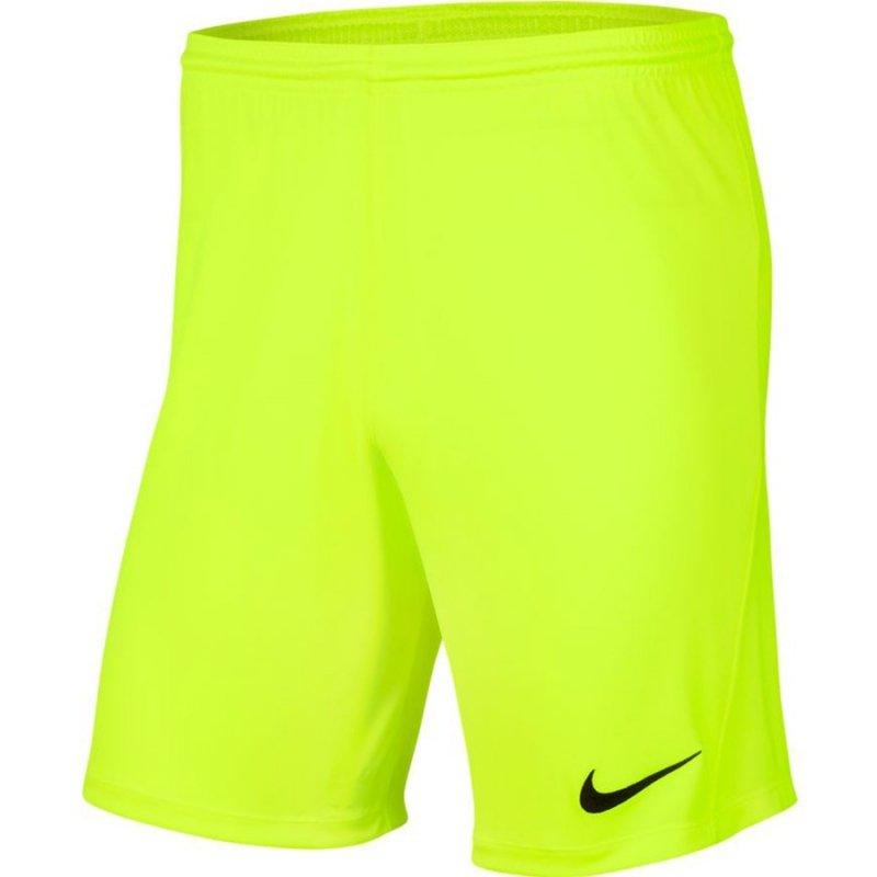 Spodenki Nike Y Park III Boys BV6865 702 żółty M (137-147cm)