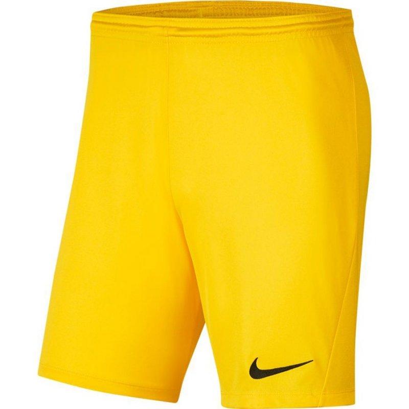Spodenki Nike Park III BV6855 719 żółty L