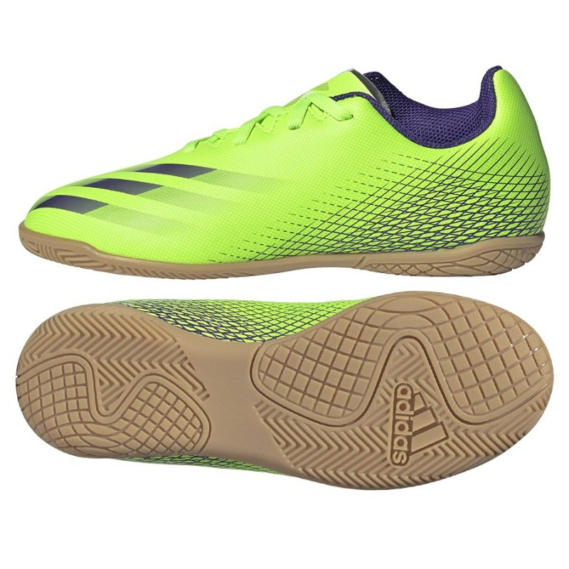 Buty adidas X Ghosted.4 IN J EG8233 zielony 30