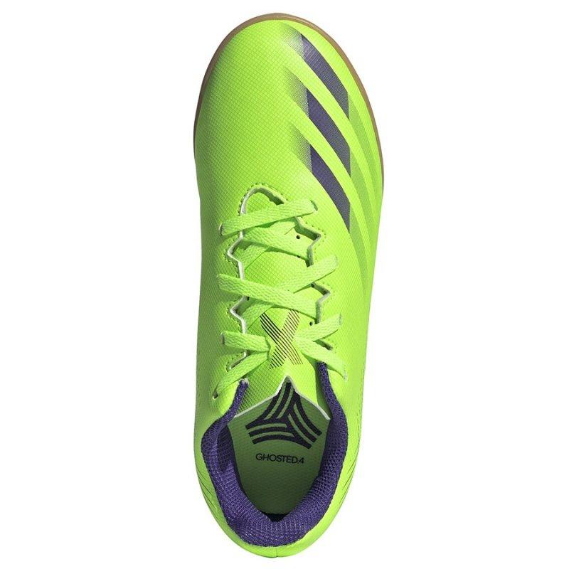 Buty adidas X Ghosted.4 IN J EG8233 zielony 34