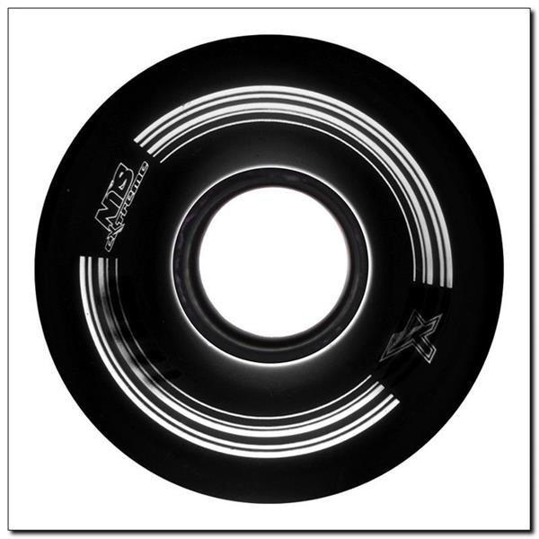 KP-6045 BLACK 60x45 MM (4 szt.) KÓŁKA KAUCZUKOWE DO PENNYBOARD NILS EXTREME
