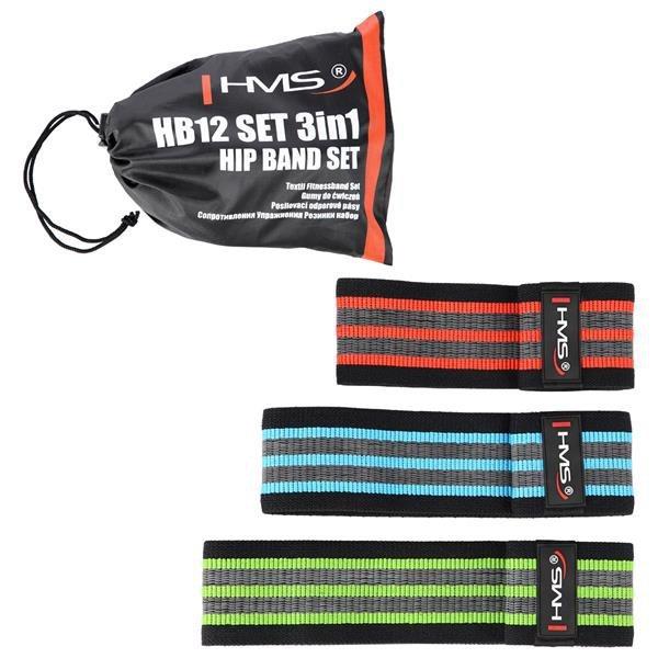 HB12 SET 3w1 GUMY DO ĆWICZEŃ HMS