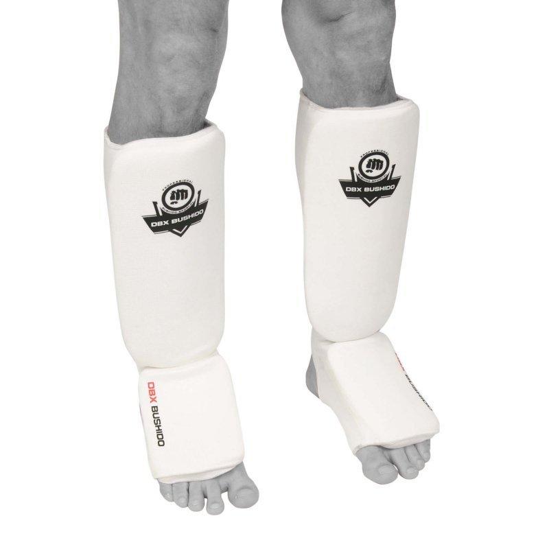 Elastyczne ochraniacze na piszczele  - Goleń i Stopa ARP-2107 - białe - XL