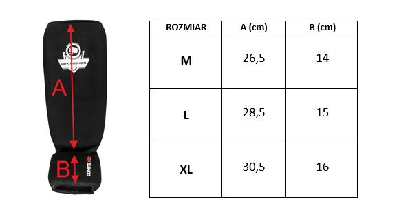 Elastyczne ochraniacze na piszczele  - Goleń i Stopa ARP-2107 - czarne -M