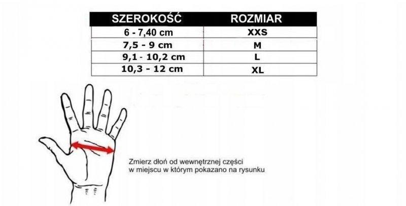 Rękawice do treningu MMA oraz na przyrzady treningowe (worek treningowy, tarcze itp) - M