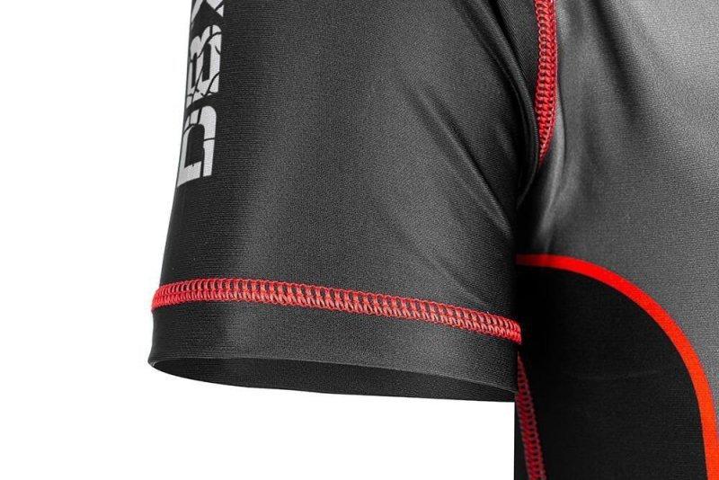 "Rashguard krótki ""Warrior"" Koszulka kompresyjna MMA, BJJ, DBX BUSHIDO  R-121H-L"