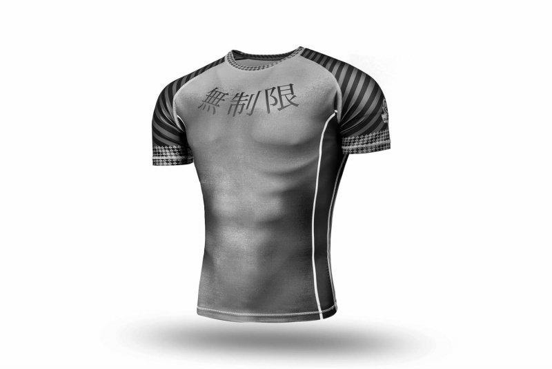 Rashguard krótki - Koszulka kompresyjna MMA, BJJ, DBX BUSHIDO R-122H
