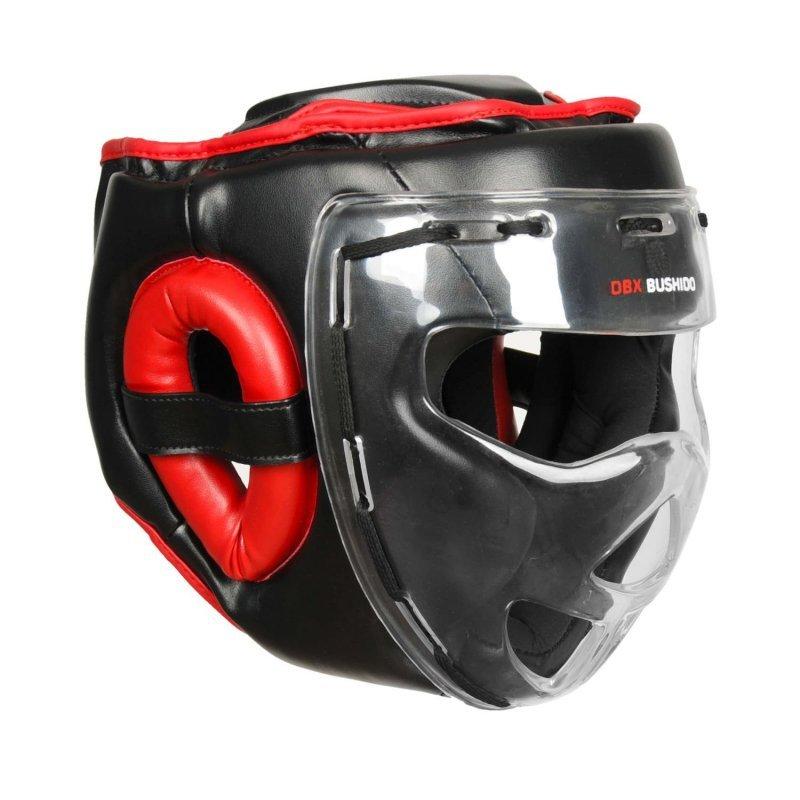 Kask bokserski sparingowy z maską poliwęglanową  ARH-2180 M