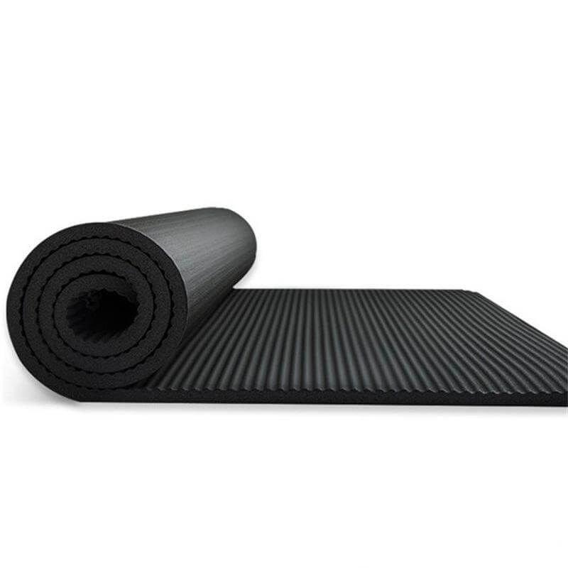 Gruba Mata Treningowa do Ćwiczeń Fitness, Mata do Yogi 15 mm czarna