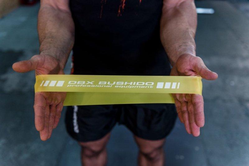 Power Band MINI  - Guma Treningowa do ćwiczeń mobility ŻÓŁTA  5-7 kg