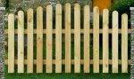S14 płot Sztachetowy MAŁGOSIA (180x100/85)