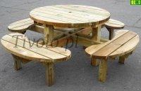 Stół  drewniany do ogrodu Francja