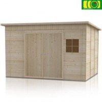 Drewniany domek ogrodowy  Lewkonia 240/150