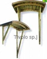 Drewniane zadaszenie Arched  190x82x150