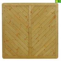 Drewniany Płot boazeryjny  prosty  180x180