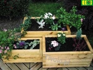 O12 kwietnik ogrodowy potrójny prostokątny (3-szt)