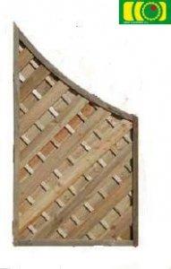 L16 zakończenie płotu diagonalnego z łukiem (90;160/90)