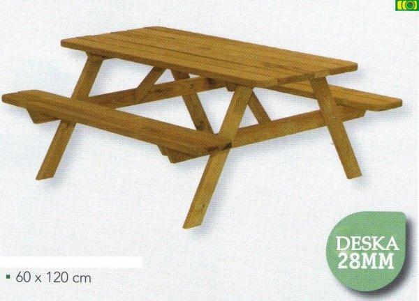 Drewniany stolik dziecięcy (60x120)