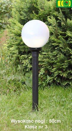 Lampa ogrodowa 70cm z kloszem