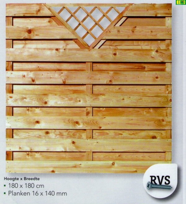 D07 drewniany płot deskowy (180x180)