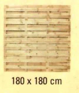 D01 płot deskowy prosty NORBERT (180x180)