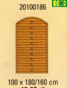 L21 płot lamelowy pełny z łukiem (90x180/160)