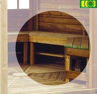 Ławki komplet do altany Chopin h44 x 150 x 41 cm/6 x ławka + 1 skrzynia/