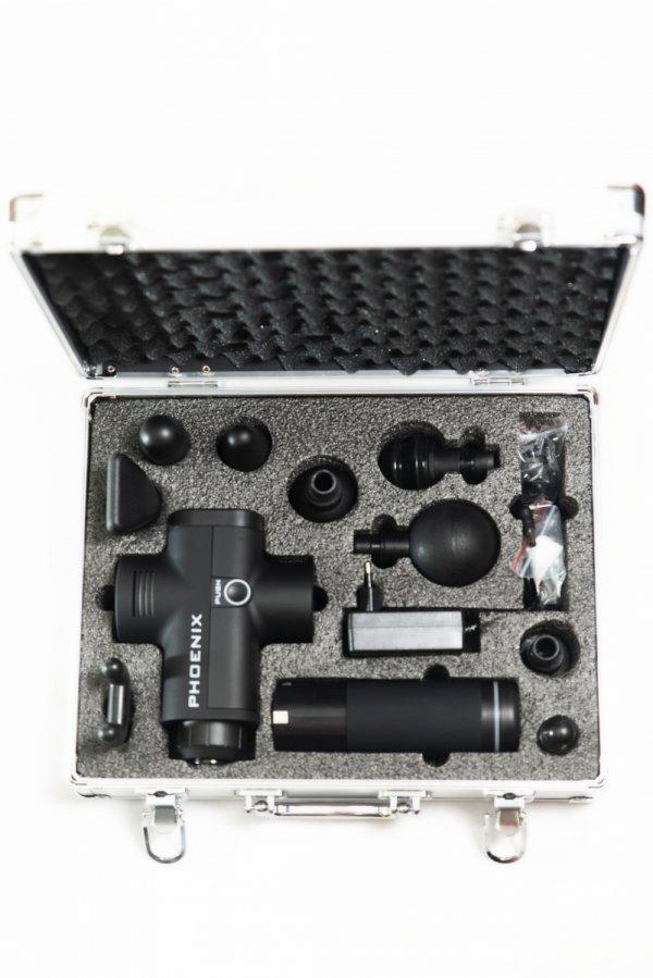 Pistolet Sportowca Phoenix Pro - głowice w aluminiowej walizce