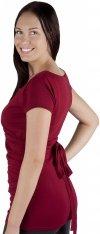 MijaCulture - bluzka z paskiem 2 w 1 ciążowa i do karmienia 4005/M17 bordo3