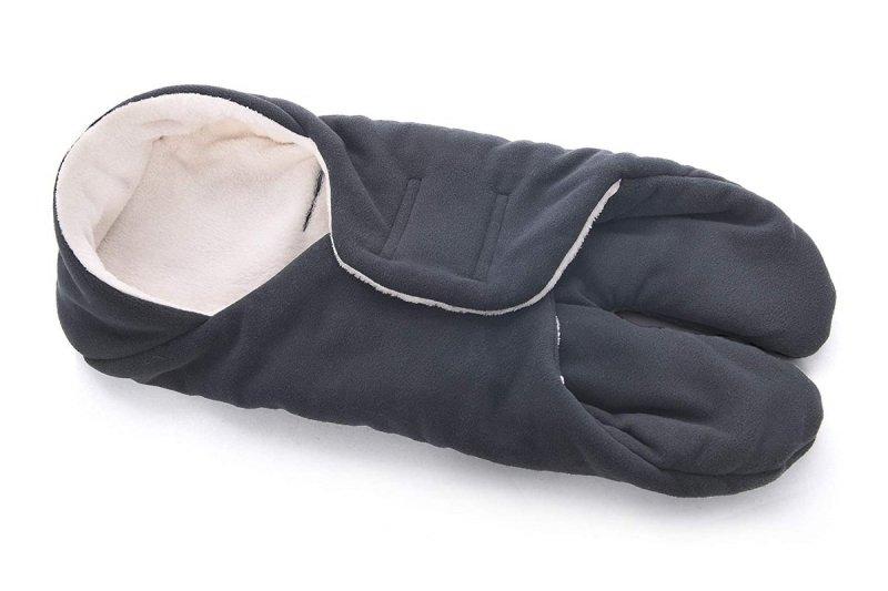 MijaCulture Polarowy otulacz do fotelika nosidła 4126 szary2