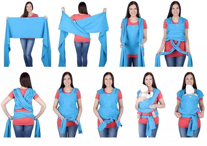 MijaCulture - chusta do noszenia dzieci 4011/M28 brzoskwiniowa