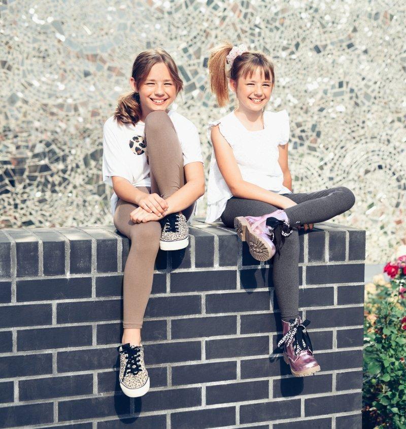 Legginsy dziewczęce getry dla dzieci ZOE melanż