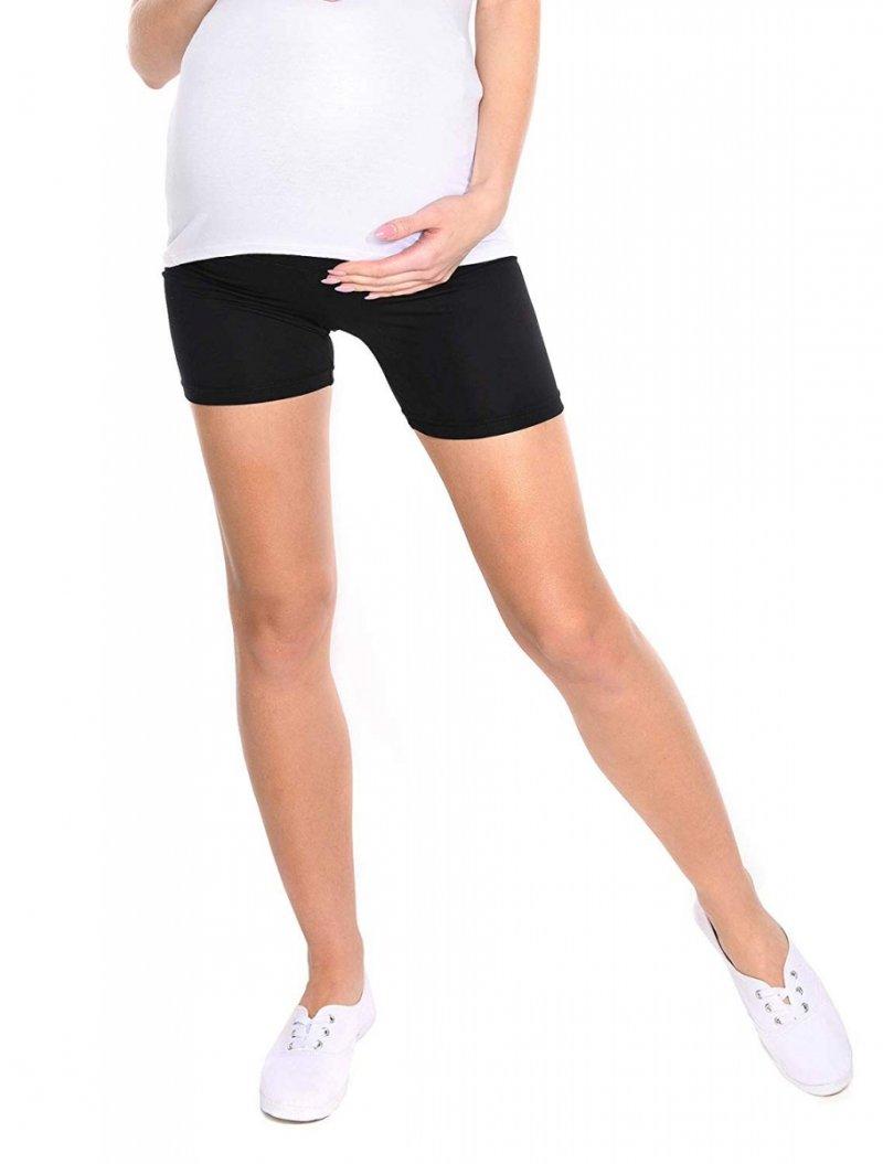 Wygodne krótkie legginsy ciążowe Mama Mia 1053 czarny