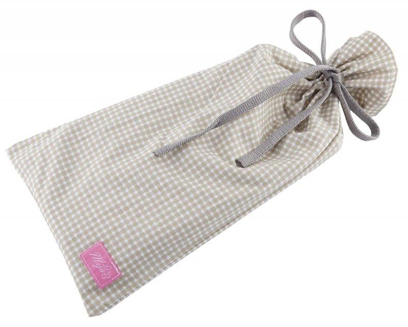 MijaCulture - chusta, peleryna do karmienia piersią + etui 4010/M34 beż