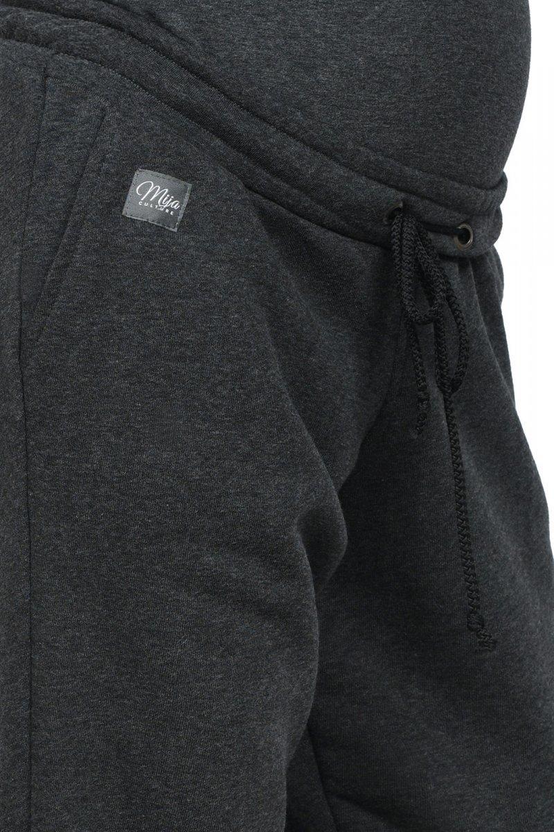 MijaCulture Wygodne spodnie dresowe ciążowe Jade M006 grafit
