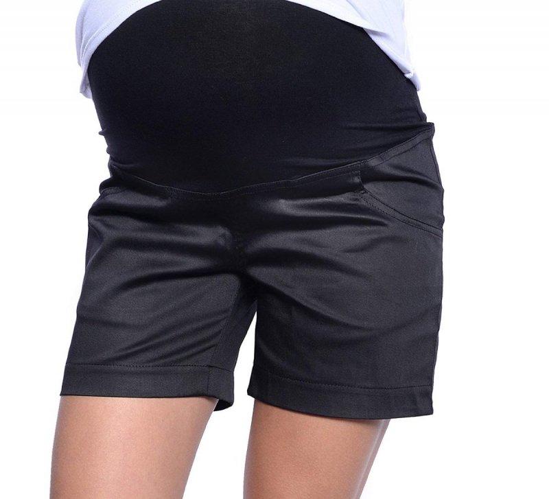 MijaCulture - szorty ciążowe 3087 czarne