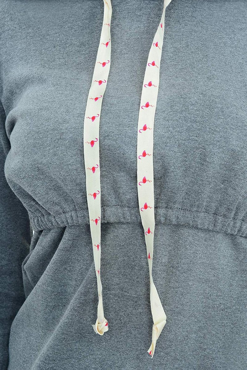 """MijaCulture - bluza 3 w 1 ciążowa i do karmienia z kapturem """"Melanie"""" 7136 melanż"""